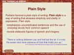 plain style