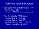 failure to appear program2
