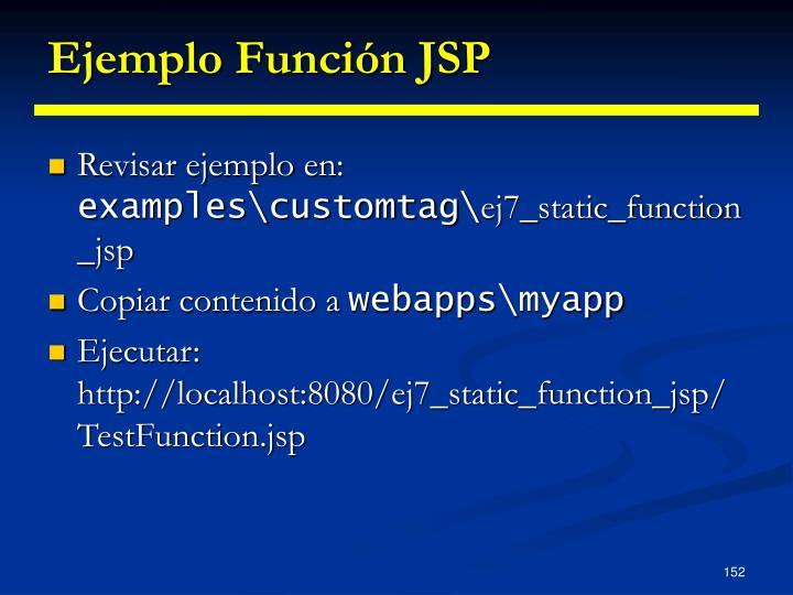 Ejemplo Función JSP