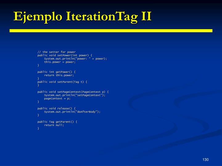 Ejemplo IterationTag II