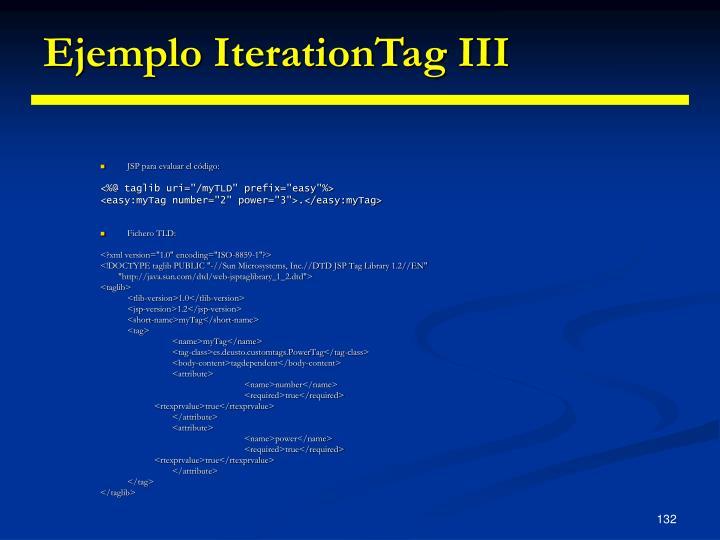 Ejemplo IterationTag III