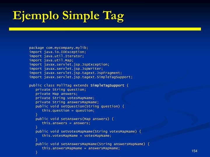 Ejemplo Simple Tag