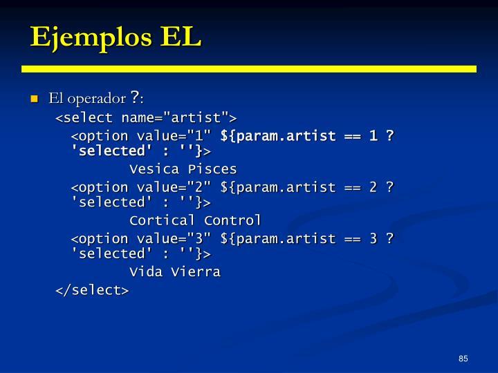 Ejemplos EL