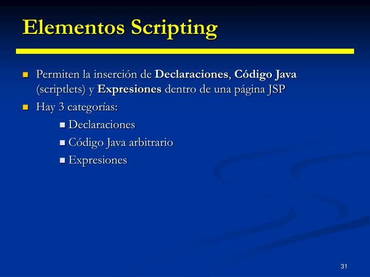 Elementos Scripting