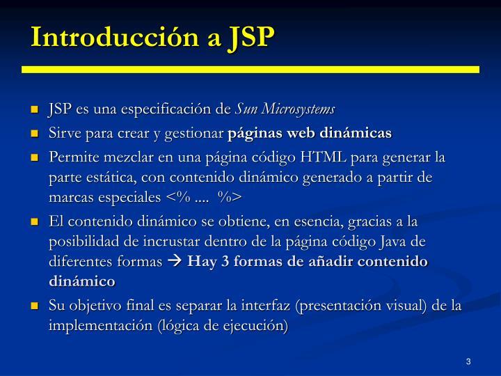 Introducci n a jsp