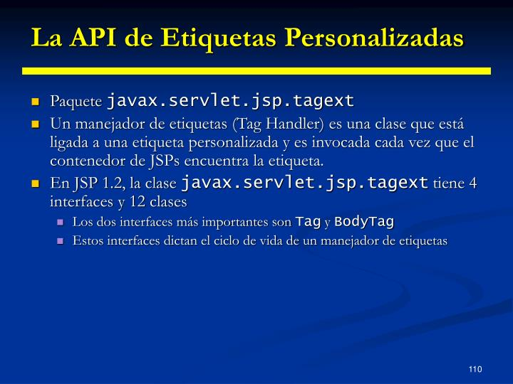 La API de Etiquetas Personalizadas