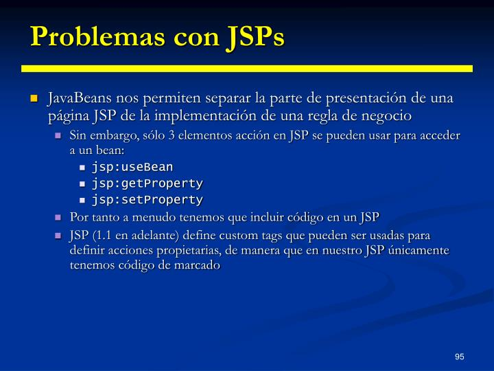 Problemas con JSPs
