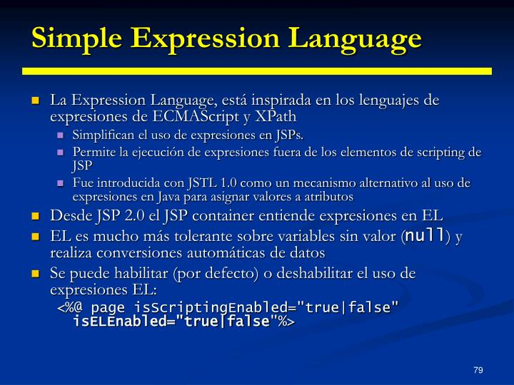 Simple Expression Language
