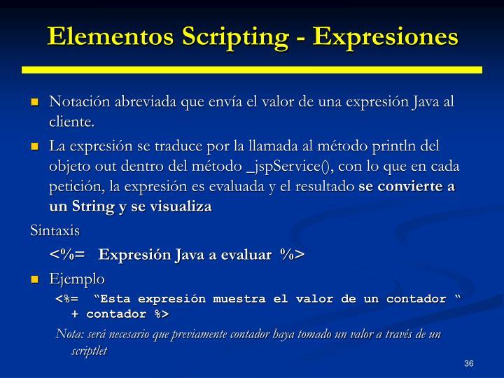 Elementos Scripting - Expresiones