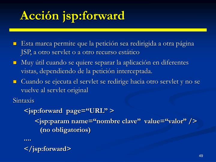 Acción jsp:forward