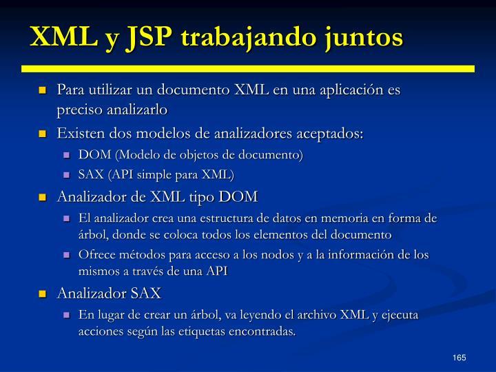 XML y JSP trabajando juntos