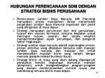 hubungan perencanaan sdm dengan strategi bisnis perusahaan