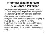 informasi jabatan tentang pelaksanaan pekerjaan1