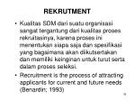 rekrutment