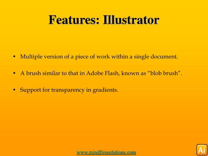 Features illustrator
