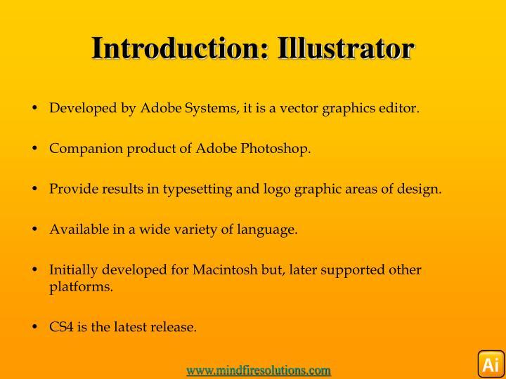 Introduction illustrator
