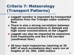 criteria 7 meteorology transport patterns