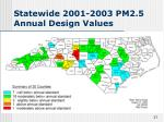 statewide 2001 2003 pm2 5 annual design values