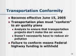 transportation conformity