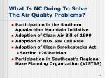 what is nc doing to solve the air quality problems