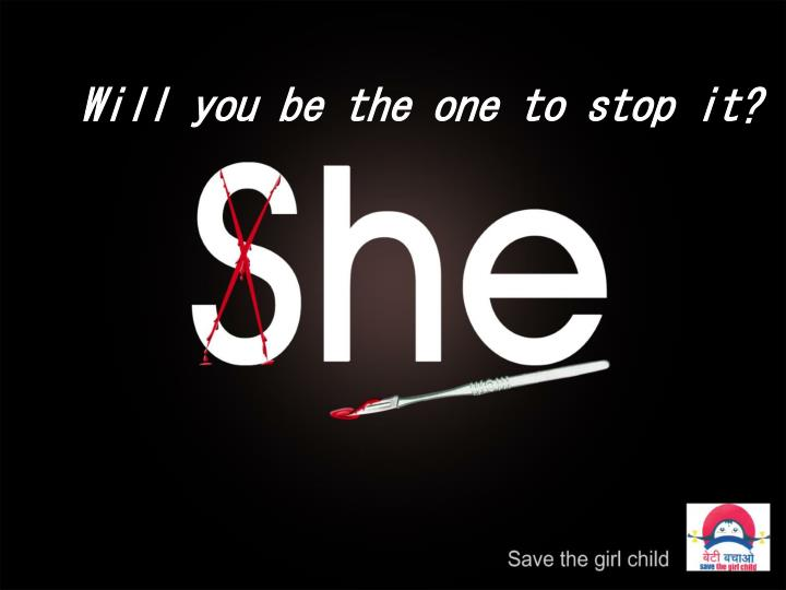 Will you be the one to stop it?
