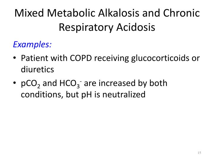 Mixed Metabolic Alkalosis and Chronic Respiratory Acidosis