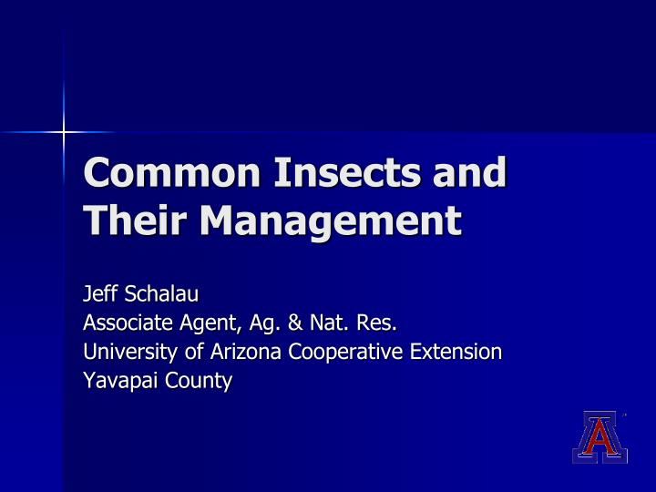 Common insects and their management