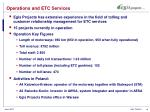 operations and etc services