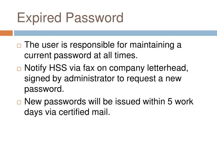 Expired Password