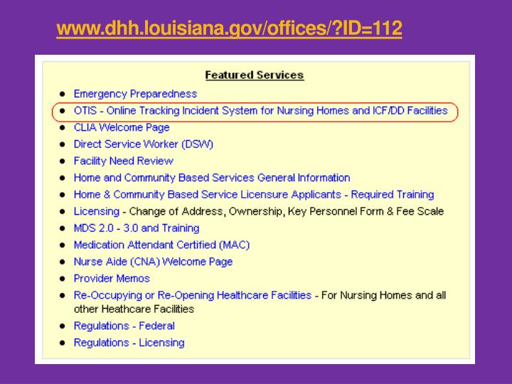 www.dhh.louisiana.gov/offices/?ID=112