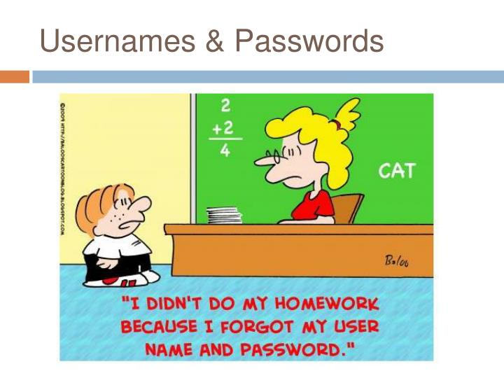 Usernames & Passwords