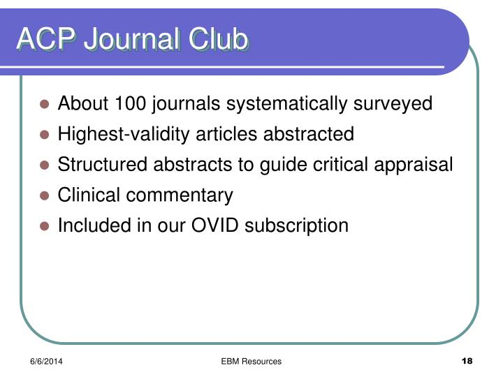 ACP Journal Club