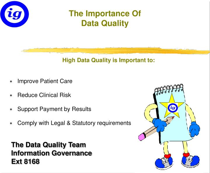 the importance of data quality n.