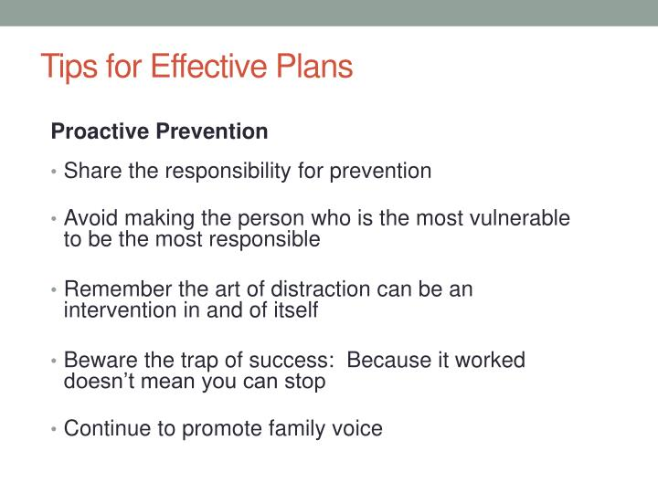 Tips for Effective Plans