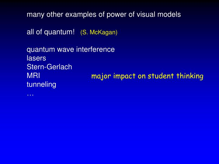many other examples of power of visual models