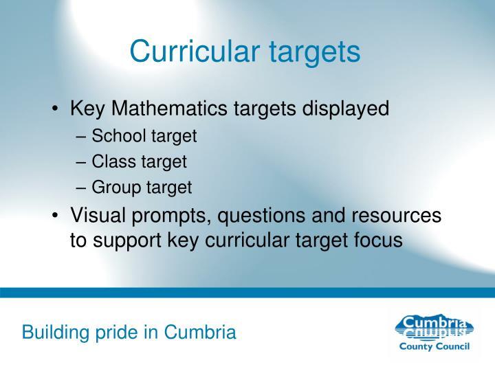 Curricular targets