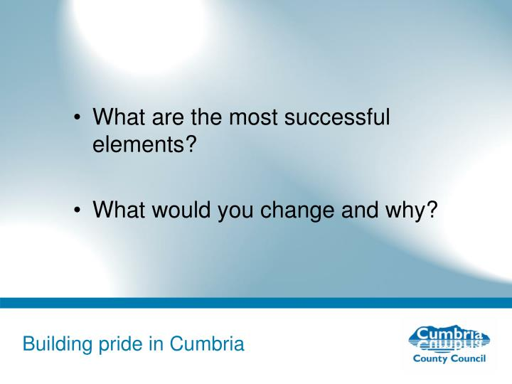 What are the most successful elements?