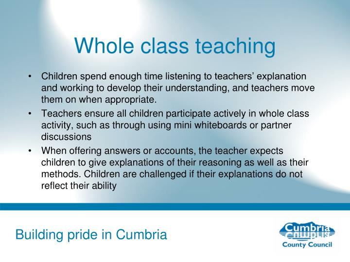 Whole class teaching