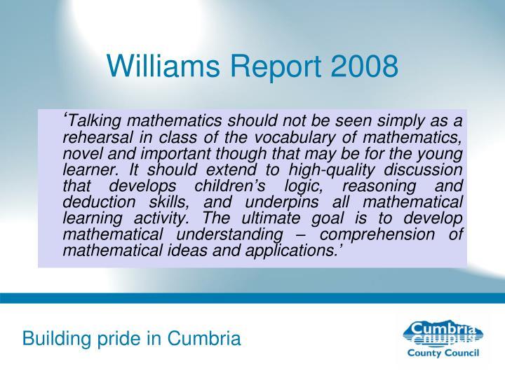 Williams Report 2008