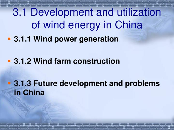 utilization of wind energy Use of wind energy  when mechanical energy enhances a unit by harnessing wind power, it may be called a windmill, wind pump, or wind charger wind energy can be used for anything from power on boats, battery charging, or electricity to be used commercially.