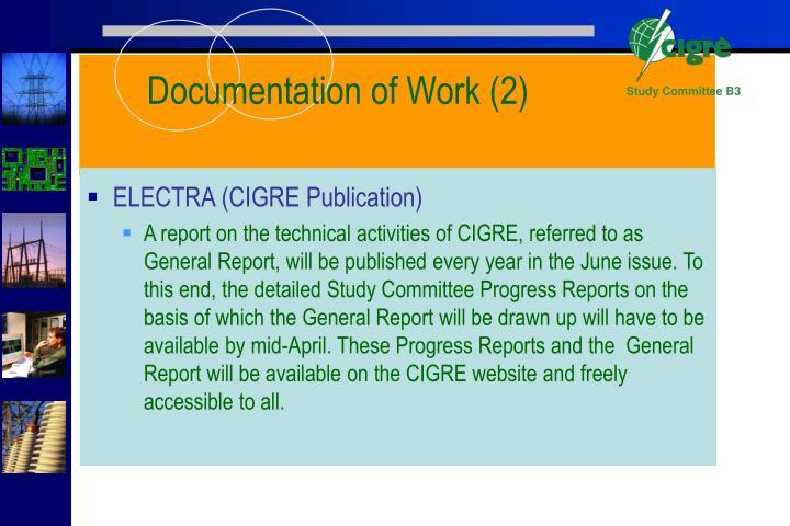 Documentation of Work (2)