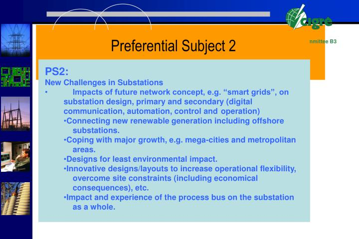 Preferential Subject 2