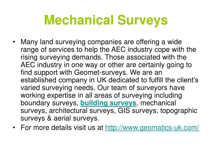Mechanical surveys3