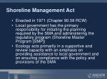 shoreline management act