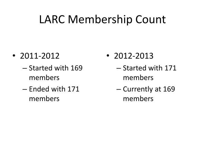 LARC Membership Count
