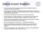options forward academia