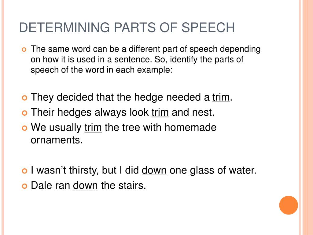PPT - Grammar: Parts of Speech PowerPoint Presentation - ID:1147830