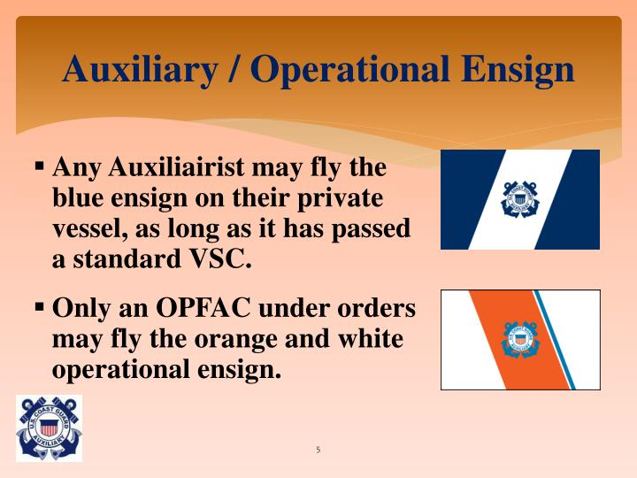 Auxiliary / Operational Ensign