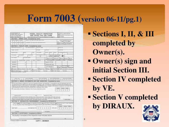 Form 7003 (