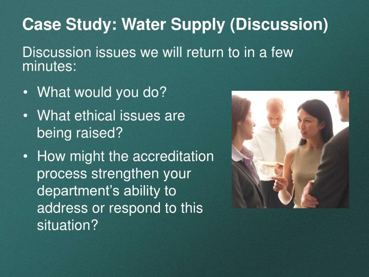 Case Study: Water Supply (Discussion)